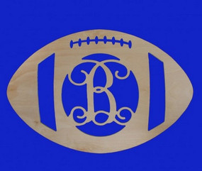 Monogrammed Wooden Football Hanger