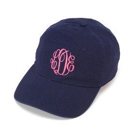 Monogrammed Navy Ball Cap