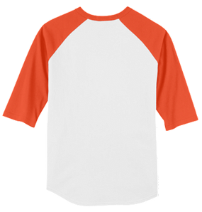 Monogrammed Raglan Jersey- White / Orange