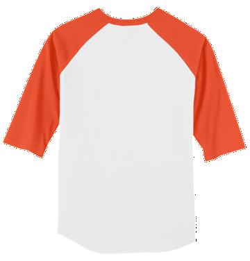 Monogrammed Raglan Jersey- White / Orange