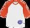 Monogrammed Raglan Jersey Back - White / Orange