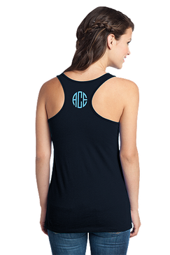Monogrammed District Juniors Racerback Tank