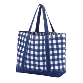Monogrammed Navy Owen Tote Bag
