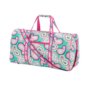 Monogrammed Paisley Duffle Bag