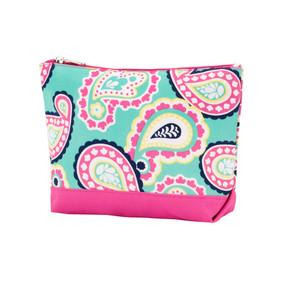 Monogrammed Paisley Cosmetic Bag