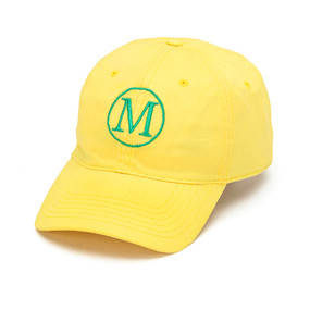 Monogrammed Yellow Ball Cap
