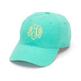 Monogrammed Mint Ball Cap
