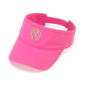 Monogrammed Hot Pink Twill Ball Visor
