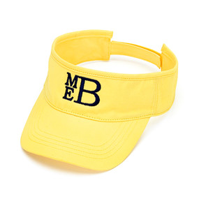 Monogrammed Yellow Twill Ball Visor