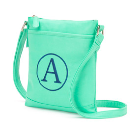 Monogrammed Mint Crossbody Purse