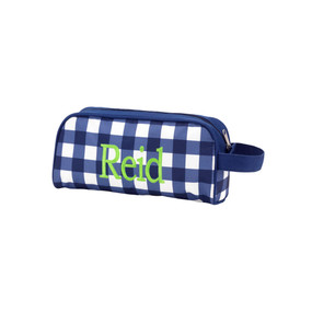 Monogrammed Navy Owen Toiletry Bag