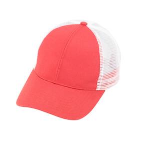 Monogrammed Coral Trucker Hat