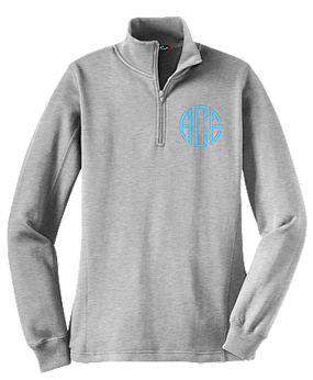 Monogrammed Athletic Heather Pullover Sweatshirt
