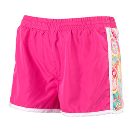 Monogrammed Summer Paisley Active Shorts