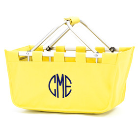 Monogrammed Yellow Market Tote