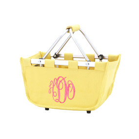 Monogrammed Yellow Mini Market Tote