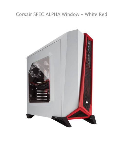 Corsair SPEC ALPHA Window - White Red