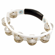 LP Cyclops® Jingle Tambourine, Steel Jingles, White, Hand Held LP152