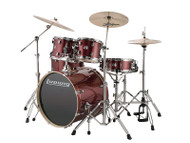 Ludwig Element Evolution 5PC w/Zildjian ZBT Cymbals Wine