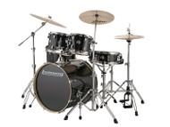 "Ludwig Element Evolution 20"" 5PC w/Zildjian ZBT cymbals Black"