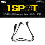 "Truetone MC2 24"" (2x12"") F-MM Pedal Power Splitter Cable 5.5 x 2.1mm"
