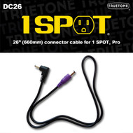 "Truetone DC26 26"" 1 Spot Pro Pedal Power Cable Purple 5.5 x 2.1mm"