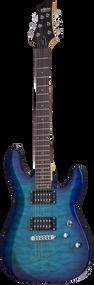 Schecter C-6 Plus, Ocean Blue Burst