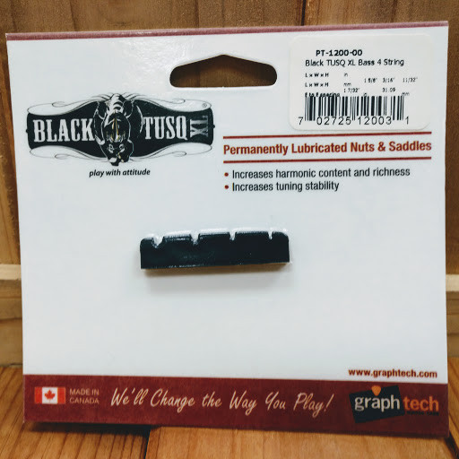"""#PT-1200-00 NEW Graph Tech BLACK TUSQ 1-5//8/"""" Slotted Nut For Bass"""