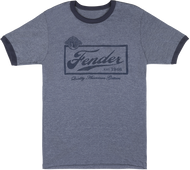 Fender Beer Label T-Shirt, Blue, S