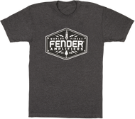 Fender® Bolt Down T-Shirt, Charcoal, S