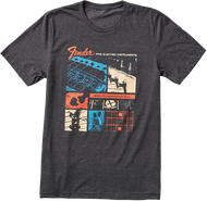 Fender® Jaguar® T-Shirt, Dark Gray, M