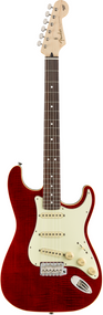 Fender Aerodyne Classic Stratocaster®, Flame Maple Top, Rosewood Fingerboard, Crimson Red Transparent
