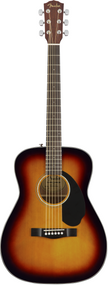 Fender CC-60S Concert, Walnut Fingerboard, 3-Color Sunburst