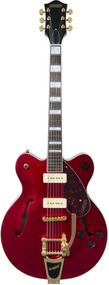 Gretsch G2622TG-P90 Limited Edition Streamliner™ Center Block P90 with Bigsby® and Gold Hardware, Laurel Fingerboard, Candy Apple Red