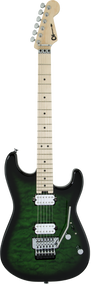 Charvel Pro-Mod San Dimas® Style 1 HH FR M QM, Transparent Green Burst