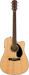 Fender CD-60SCE Dreadnought, Walnut Fingerboard