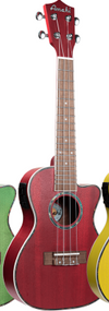Amahi UK-205EQRD Concert Red w/bag