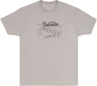 Fender Strat® Blueprint T-Shirt, Silver, L