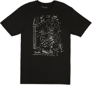 Fender Stratocaster Patent Drawing T-Shirt, Black, S