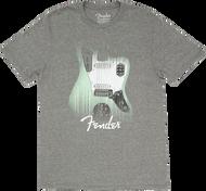 Fender® Jaguar® Lines T-Shirt, Gray XL