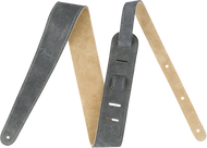 "Fender  2"" Suede Strap, Gray/Tan, Reversible"