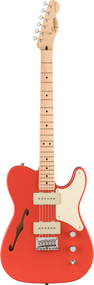 Squier Paranormal Cabronita Telecaster® Thinline, Maple Fingerboard, Fiesta Red