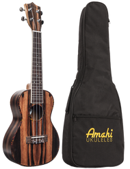Amahi UK990C Concert Ebony w/bag
