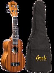 Amahi UK210S Soprano Mahogany w/bag