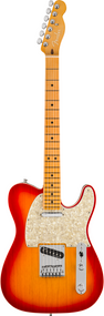 Fender American Ultra Telecaster®, Maple Fingerboard, Plasma Red Burst