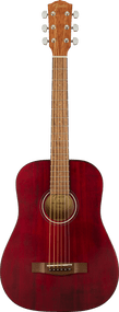 Fender FA-15 3/4 Scale Steel with Gig Bag, Walnut Fingerboard, Red