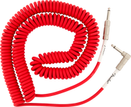 Fender  Original Series Coil Cable, Straight-Angle, 30', Fiesta Red
