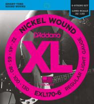 D'Addario EXL170-6 Nickel Light 32-130 6-string Bass Guitar Strings