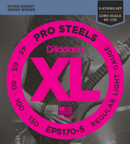 D'Addario EPS170-5 ProSteel Light 45-130 5-string Bass Guitar Strings