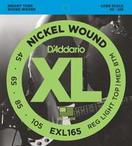 D'Addario EXL165 Nickel Custom Light 45-105 Bass Guitar Strings